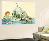 Choo Choo Fun - Turtle Wall Mural by Marsha Winborn