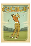 Golf-Bad Day Print by  Anderson Design Group