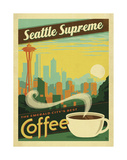 Seattle Supreme Coffee Poster by  Anderson Design Group