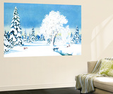 Winter Wonderland - Jack & Jill Wall Mural by Florence McCurdy