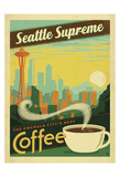 Seattle Supreme Coffee Posters by  Anderson Design Group
