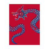 New Year Dragon Giclee Print