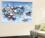 Winter Village - Jack & Jill Wall Mural by Dorothy H. Jones