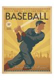 Baseboll Posters av Michael Harrison
