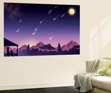 Waiting for the Perseids - Jack & Jill Wall Mural by Richard Hoit