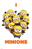 Despicable Me 2 (I Love Minions) Movie Poster Kunstdrucke