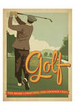 Golf Lucky Poster by  Anderson Design Group