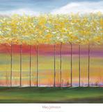 Sun Setting Through Trees Prints by Mary Johnston