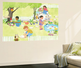 My Playtime Garden - Turtle Wall Mural by Kathryn Mitter