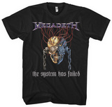 Megadeth - System Failed T-shirts