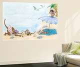 What Is Blue - Turtle Wall Mural by Marsha Winborn
