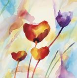 Tilt Tulips I Posters by Deborah LaMotte