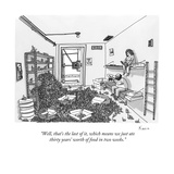 """Well, that's the last of it, which means we just ate thirty years' worth …"" - New Yorker Cartoon Premium Giclee Print by Zachary Kanin"