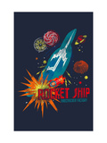 Rocket Ship Giclee Print