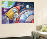Life in Space - Jack & Jill Wall Mural by Merril Rainey