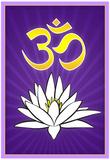 Lotus Meditation AUM Posters