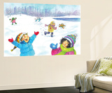 Snowflakes - Humpty Dumpty Wall Mural by Amy Wummer