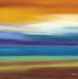Prairie Abstract 3 Print by Mary Johnston