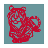Papercut Tiger Giclee Print