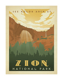 Zion National Park Poster by  Anderson Design Group