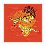 Racing Cheetahs Giclee Print