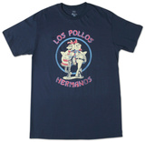 Breaking Bad - Los Pollos Hermano Navy Shirts