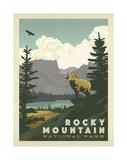 Parque Nacional das Montanhas Rochosas nos EUA Pôsters por  Anderson Design Group
