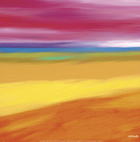 Prairie Abstract 1 Poster by Mary Johnston