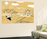 Down on the Farm - Jack & Jill Wall Mural by Paul Froelich
