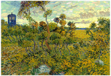 Vincent Van Gogh Tardis at Montmajour Plakater