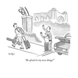 """Be afraid to try new things!"" - New Yorker Cartoon Premium Giclee Print by Robert Leighton"