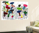 Umbrellas - Jack & Jill Wall Mural by Stella May DaCosta
