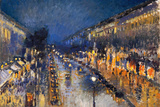 Camille Pissarro The Boulevard Montmartre Print by Camille Pissarro