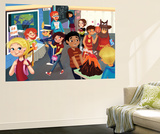 Back to School - Jack & Jill Wall Mural by Tatevik Avakyan