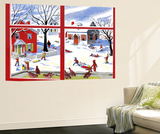 Winter Window - Jack & Jill Wall Mural by Janet Smalley