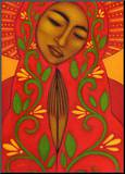 Red Madonna Mounted Print by Tamara Adams