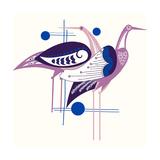 Deco Cranes Giclee Print