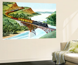 Bridge Crossing - Jack & Jill Wall Mural by Wilmer H. Wickham