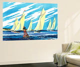 Sailing Ships - Jack & Jill Wall Mural by Wilmer H. Wickham