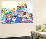 Library Time - Humpty Dumpty Wall Mural by  Robin Boyer