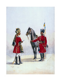 Alwar Lancers, Commandment and Chohan Rajput, Illustration for 'Armies of India' by Major G.F.… Giclee Print by Alfred Crowdy Lovett