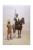 Soldiers of the Mysore Transport Corps, Illustration from 'Armies of India' Giclee Print by Alfred Crowdy Lovett