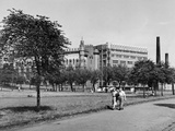 Glasgow Green, Templetons, 1955 Photographic Print