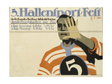 German Advertisement for a Sport Event in Berlin, Printed by Hollerbaum and Schmidt, Berlin, 1911 Giclee Print by Hans Rudi Erdt