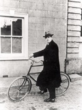 Michael Collins (1870-1922) with His Famous Bicycle Photographic Print by  Irish Photographer