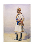 Hon Colonel H.H. Maharaja Sir Ganja Singh, Bahadur of Bikaner, Illustration for 'Armies of India'… Giclee Print by Alfred Crowdy Lovett