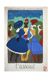 Soldier on Leave Being 'Attacked' by Women. 1915 Giclee Print by Lucien Laforge