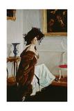 Portrait of Princess Olga Konstantinovna Orlova (1872-1923) 1911 Giclee Print by Valentin Aleksandrovich Serov