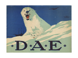 Promotion Poster for the German Arctic Expedition, 1913 Giclee Print by Hans Lindenstaedt