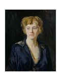 Portrait of a Fair-Haired Woman Giclee Print by Reginald-Grenville Eves